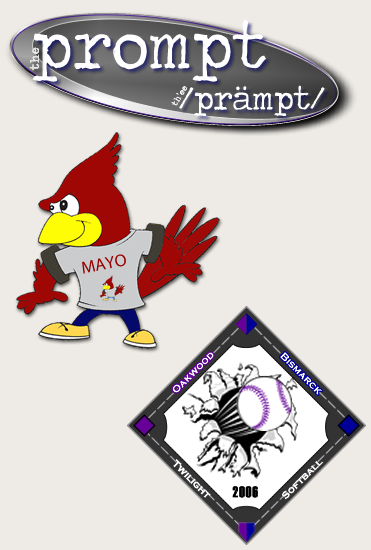 HBAC has done logos for Prompt Literary Magazine, Mayo Middle School, and Bismarck Twilight Girls Softball